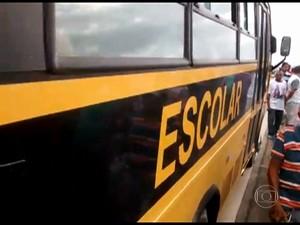 Transporte escolar (Foto: Rede Globo)