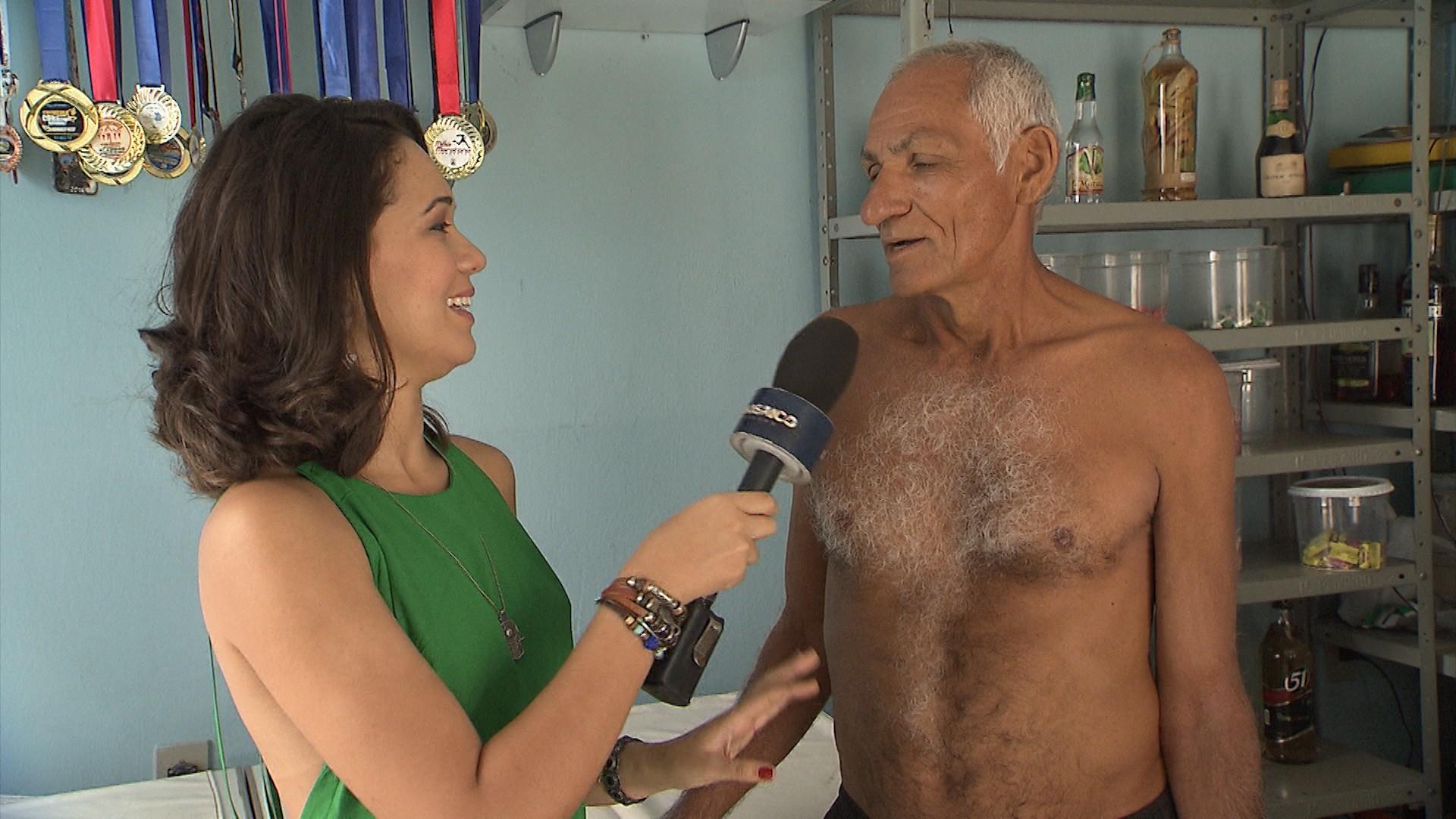 Seu Edinho decidiu virar triatleta aos 63 anos (Foto: Divulgação)