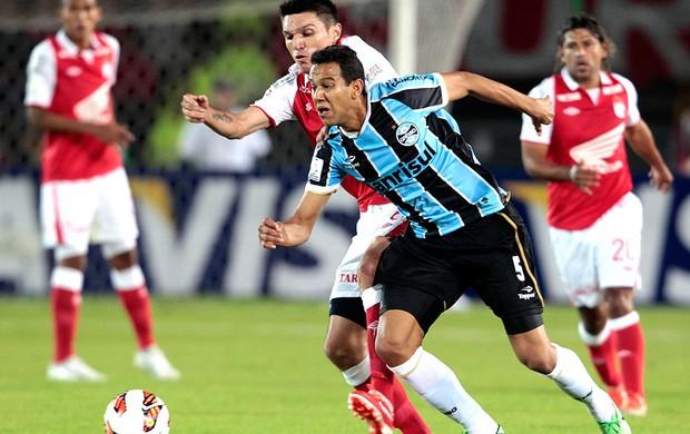 Souza jogo Grêmio Santa Fé (Foto: Reuters)