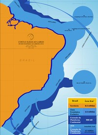 Brasil propõe uma 'Venezuela' a mais de área marítima