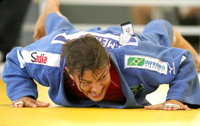 Sarah Menezes no treino de judô no Rio de Janeiro (Foto: Sergio Moraes / Reuters)