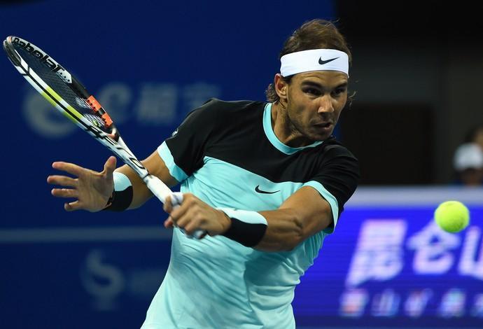 Rafael Nadal na final em Pequim (Foto: AFP PHOTO / GOH CHAI)