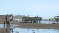 Maré seca prejudica rotina dos pescadores do Litoral Sul