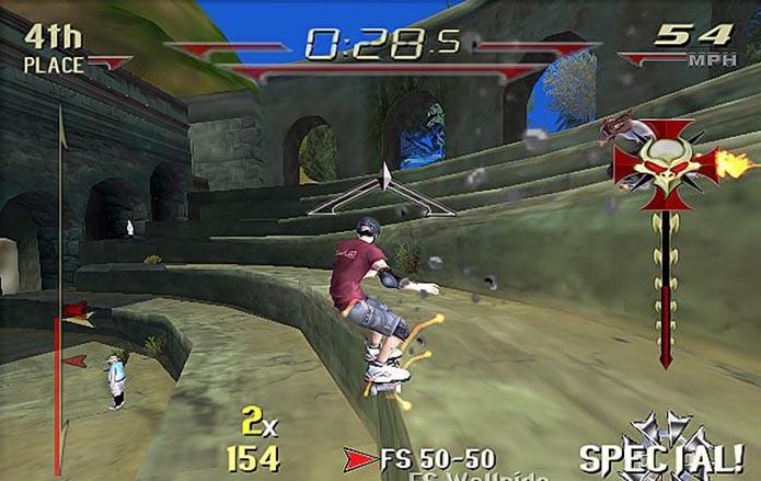 Downhill Jam fugiu do padrão do game, e não deu muito certo (Foto: Reprodução)