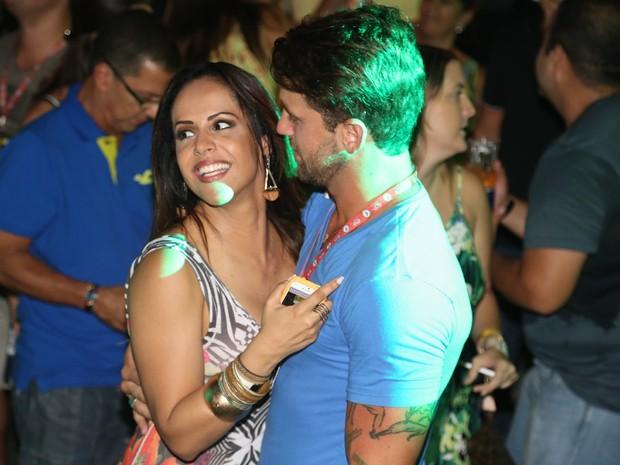Carla Cristina e ex-BBB Diogo Pretto no Festival de Verão de Salvador, na Bahia (Foto: Fred Pontes/ Foto Rio News)