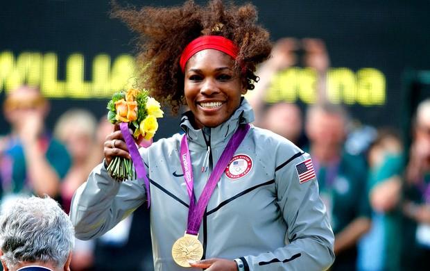 Serena williams tênis Londres 2012 medalha de ouro (Foto: Agência Reuters)