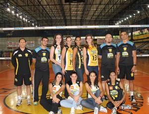 Equipe do Praia Clube JImi, vôlei feminino (Foto: Divulgação/ Assessoria)