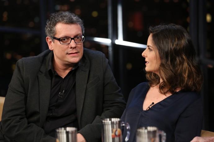 Marcello Airoldi e Juliana Araripe no 'Programa do Jô' (Foto: Carol Caminha/Gshow)