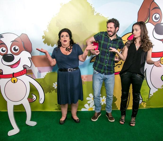 Grace Gianoukas, Conrado Caputo e Marcella Valente também entraram na dança! (Foto: Isabella Pinheiro/Gshow)