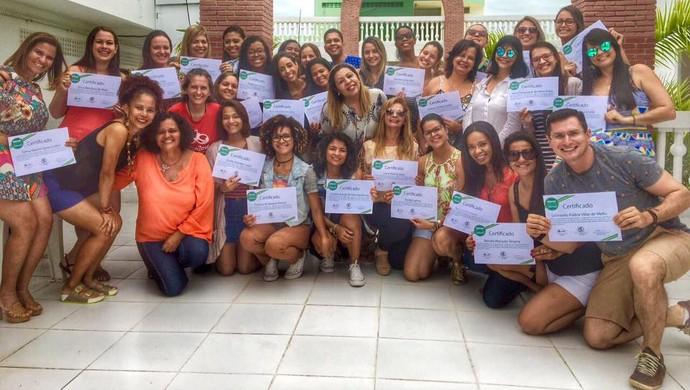 Workshop de ginástica rítmica em Aracaju com Mônika Queiroz (Foto: Reprodução/Facebook)