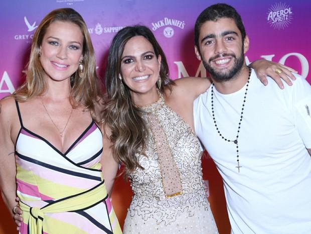 Luana Piovani, Carol Sampaio e Pedro Scooby (Foto: Wallace Barbosa e Anderson Borde/AgNews)