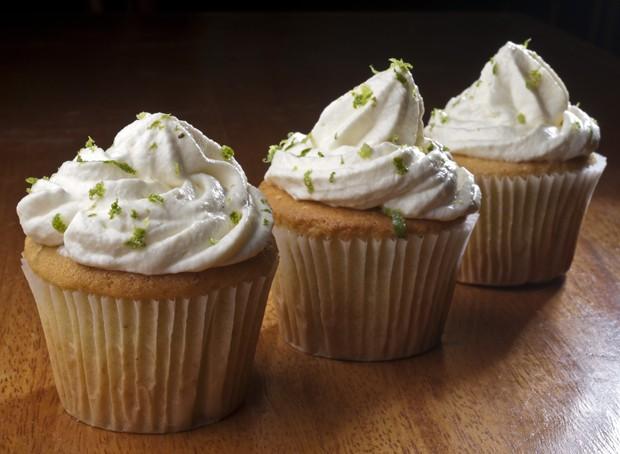Cupcake com limo verde e cream-cheese (Foto: Divulgao)