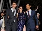 Robert Pattinson e Kristen Stewart vão à première de 'Amanhecer' nos EUA