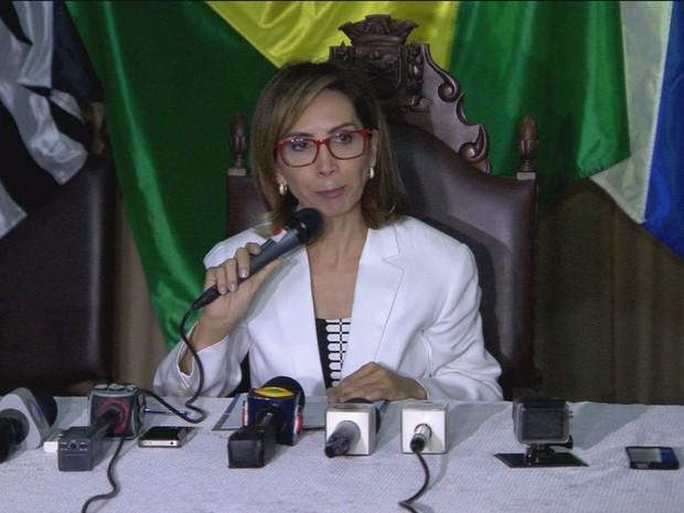 A prefeita de Ribeirão Preto, Dárcy Vera (PSD), fala sobre denúncias de corrupção  (Foto: Reprodução/EPTV)
