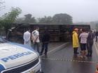 Acidente entre ônibus e carro deixa um morto na BR-101, sul da Bahia