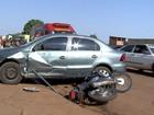 Motociclista fica ferido ao bater na traseira de carro em Campo Grande