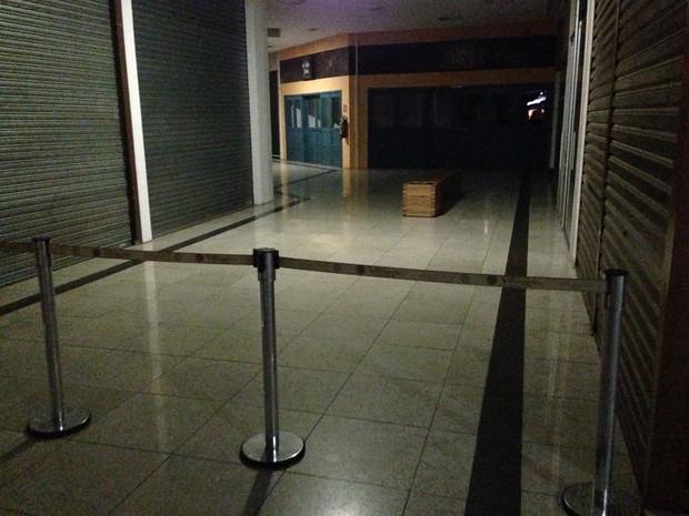Shopping de Sorocaba está sem lojas abertas (Foto: Ana Carolina Levorato / G1)