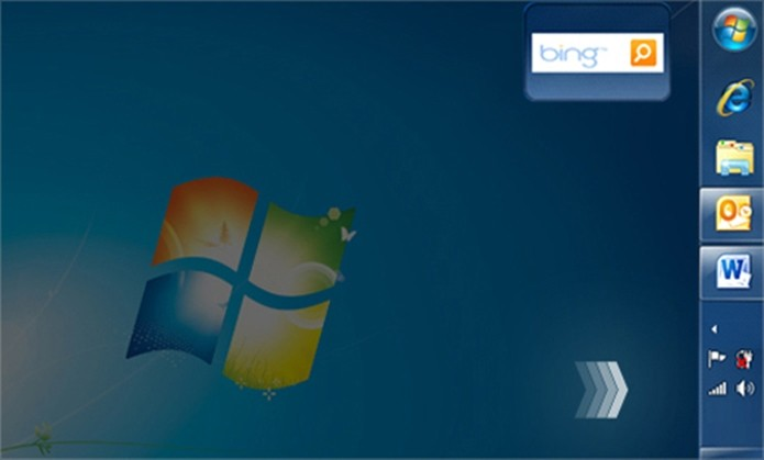 Barra de tarefas do Windows 7 pode ficar na lateral, em baixo ou em cima da tela (Foto: Divulgação/Microsoft)