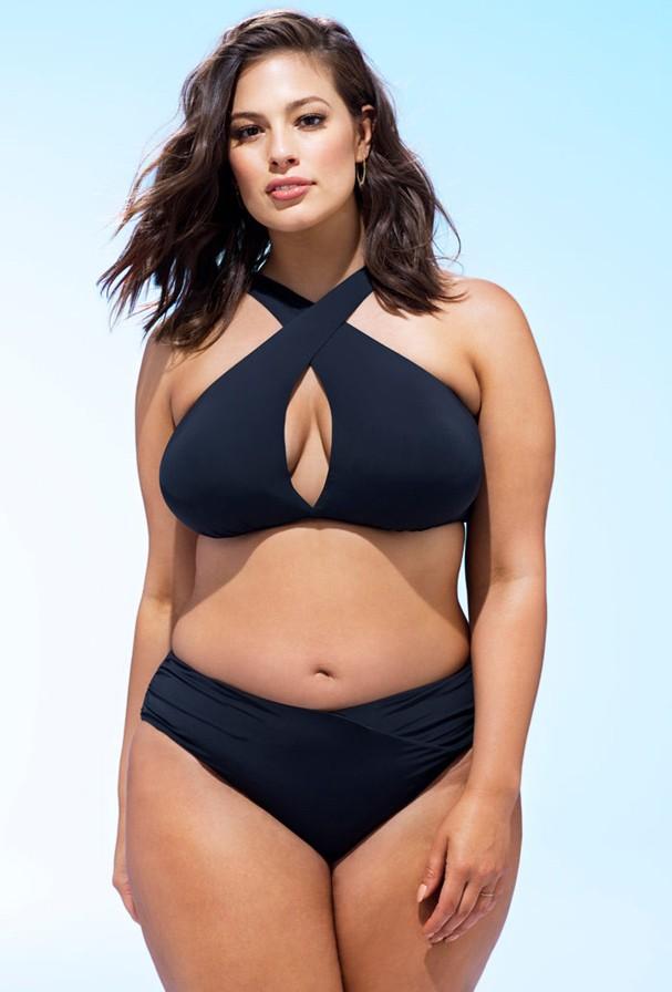 Linha de beachwear de Ashley Graham (Foto: Divulgação )