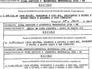 Documentos mostram desembolsos da Alap a empresa de acusado (Foto: Reprodução)