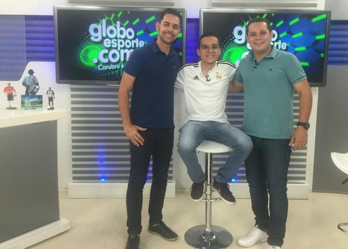 Jornalistas do GloboEsporte Caruaru analisam primeira rodada da Série A2 (Foto: Lindayanne Florêncio / GloboEsporte.com)