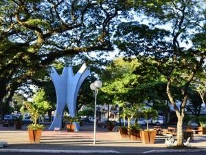 Praça em Cianorte (Foto: Divulgação/ Ascom/ Prefeitura de Cianorte)