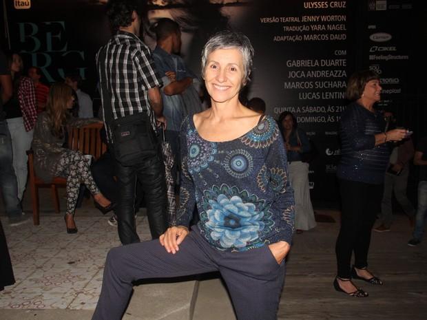 Cássia Kis Magro em peça na Zona Sul do Rio (Foto: Anderson Borde/ Ag. News)