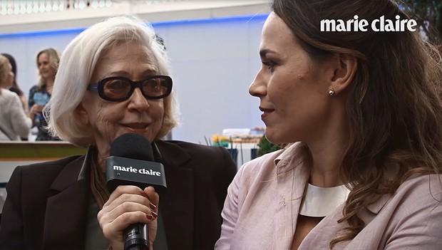 Fernanda Montenegro na festa da Marie Claire (Foto: Marie Claire/ Editora Globo)