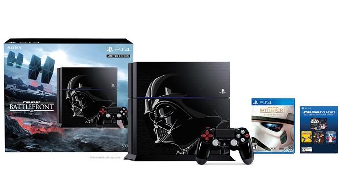 Além de bela arte de Darth Vader, PlayStation 4 de Star Wars Battlefront traz games clássicos no pacote (Foto: Reprodução/Amazon)