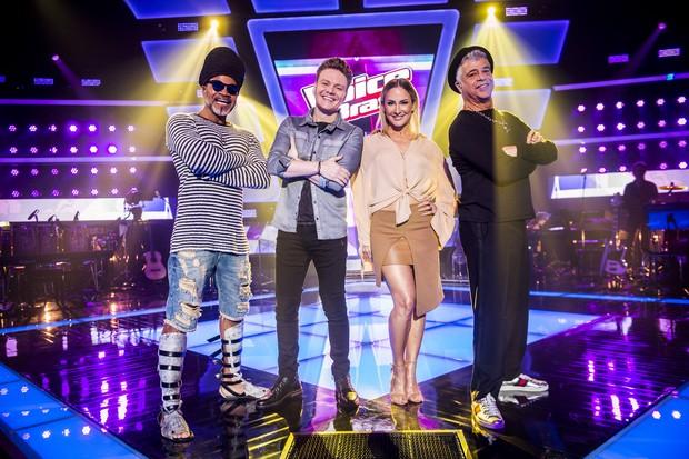 Carlinhos Brown, Michel Teló, Claudia Leitte e Lulu Santos retornam como jurados do The Voice Brasil (Foto: João Miguel Júnior / Globo)