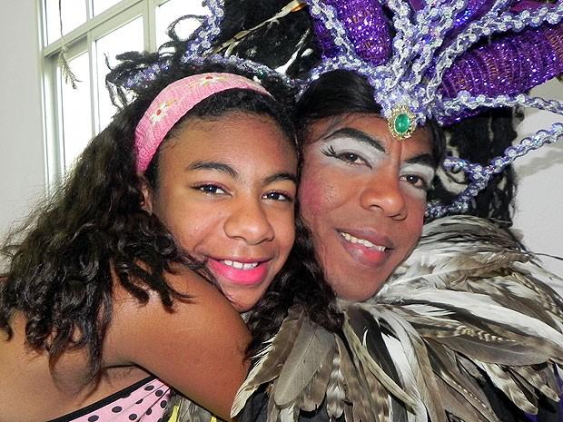Jurandi Gusmão e a filha Mayra comemoram mais um Dia dos Pais, em Vitória (Foto: Amanda Monteiro/ G1 ES)