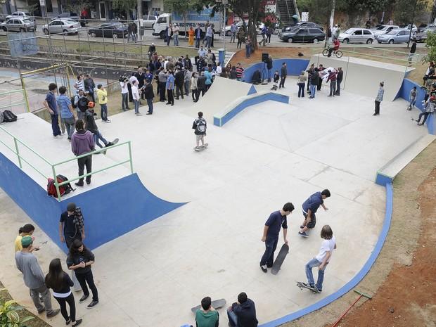 Nova pista atrai amantes do skate (Foto: Daniel Marcus/Divulgação)