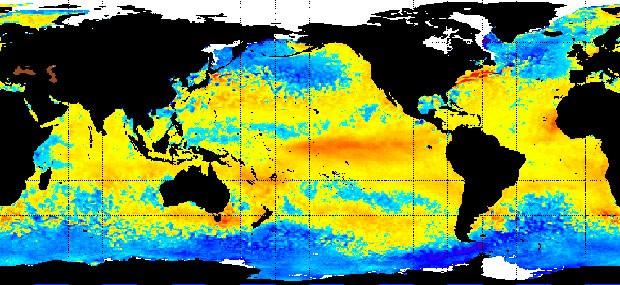 Mapa de anomalias de temperatura mostra El Niño no Pacífico em 11 de fevereiro (Foto: NOAA)
