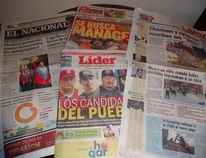 Jornais da Venezuela dão pouco destaque ao jogo do Grêmio (Foto: Hector Werlang/Globoesporte.com)