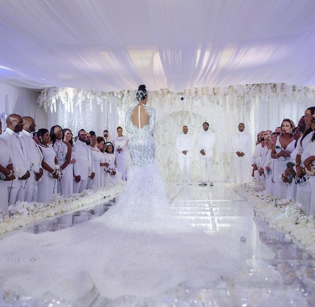 Casamento ostentação do rapper Gucci Mane com a modelo Keyshia Ka'oir  (Foto: Reprodução/Instagram)