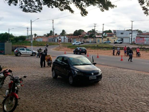 Blitz aconteceu nas imediações da sede do Detran, em Cidade da Esperança (Foto: Divulgação/Polícia Militar do RN)
