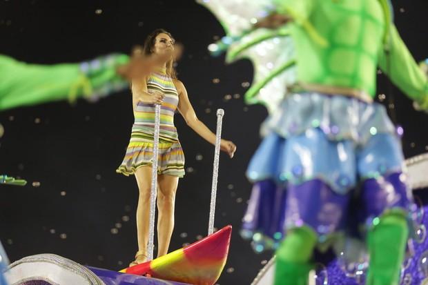 Glenda no desfile da União da Ilha (Foto: Felipe Assumpção / AgNews)