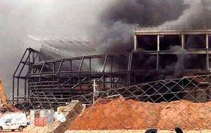 incêndio estádio Arena Pantanal obras (Foto: EFE)