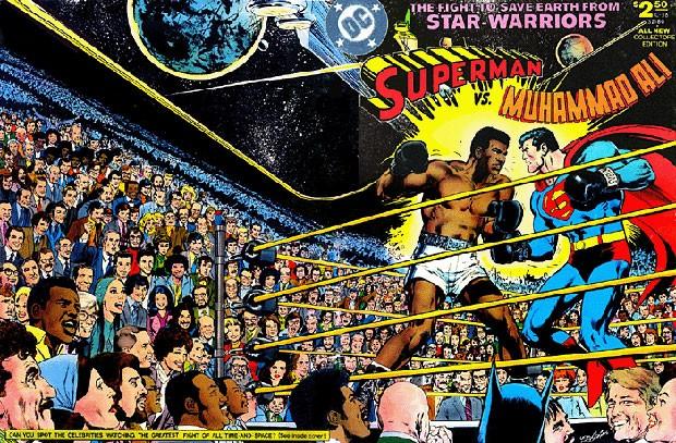 HIstória em quadrinhos da DC Comics de 1978 coloca frente a frente Muhammad Ali e Super-Homem. (Foto: Divulgação/DC Comics)
