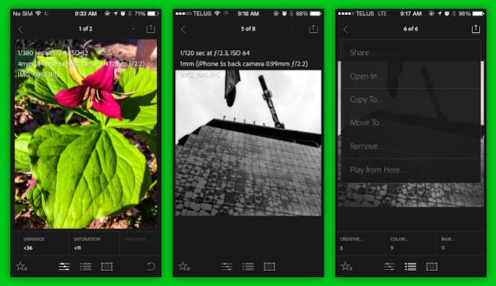 Adobe lançou uma versão do Lightroom mobile especifica para o iPhone (Foto: Reprodução/TechCrunch) (Foto: Adobe lançou uma versão do Lightroom mobile especifica para o iPhone (Foto: Reprodução/TechCrunch))