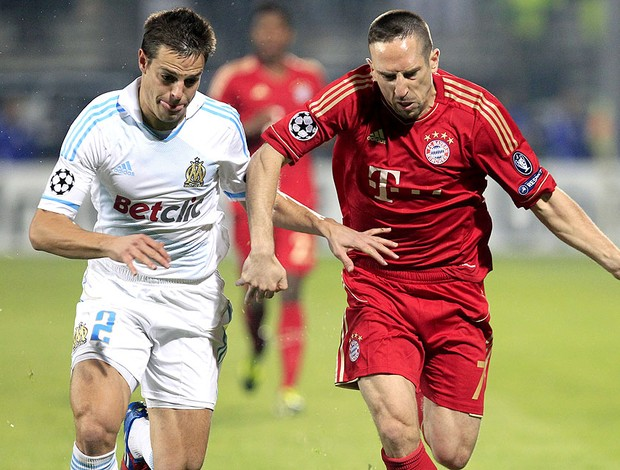 Franck Ribery na partida do Olympique contra o Bayern de Munique (Foto: EFE)