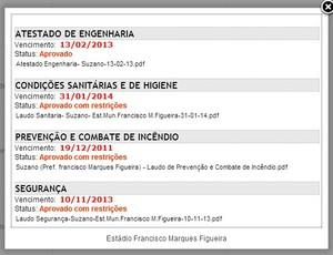 Iinterdição do Suzanao site FPF (Foto: Reprodução / FPF)