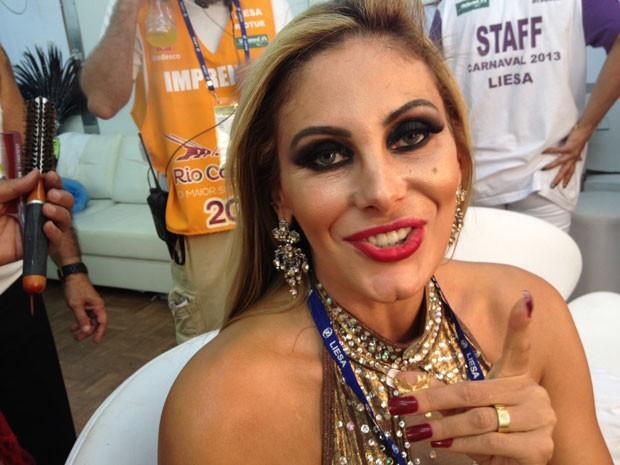 Modelo disse que para esse carnaval não fez plástica alguma (Foto: Carolina Lauriano / G1)