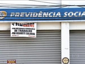 Greve do INSS (Foto: Rede Globo)