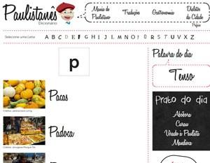 """Site traz 'dicionário de paulistanês"""" (Foto: Reprodução/SPTuris)"""