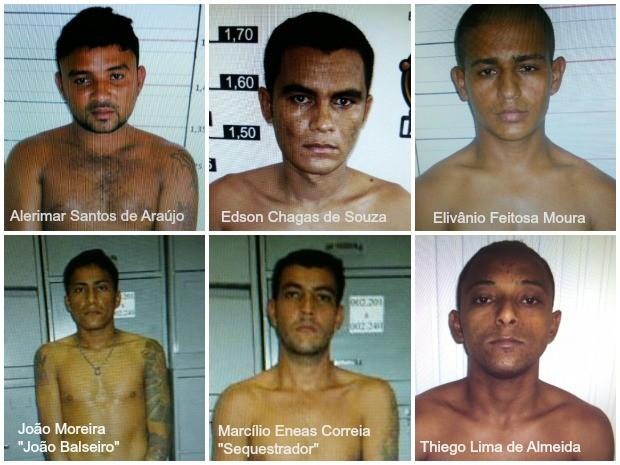 Seis detentos fugiram de presídio em Cruzeiro do Sul (Foto: Arquivo da Polícia)
