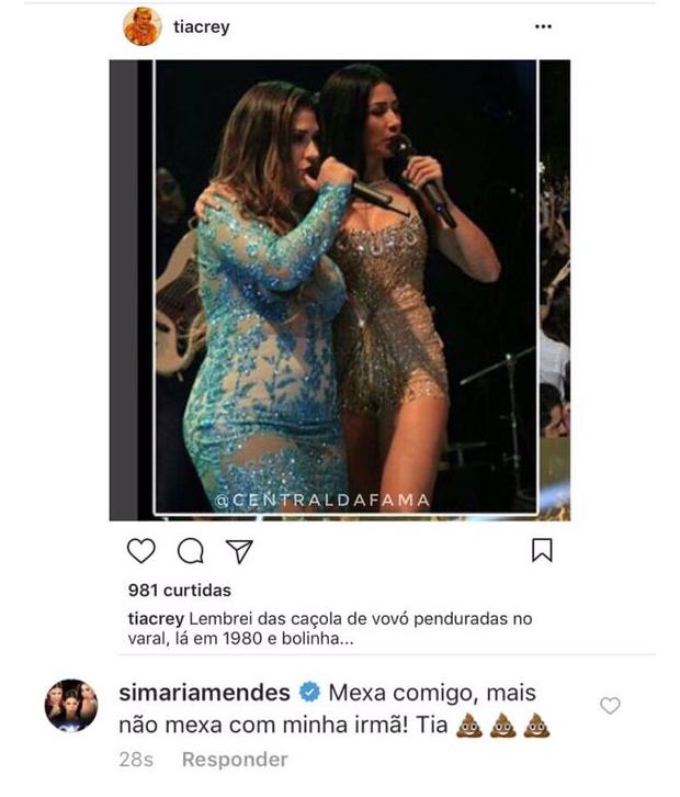 Simaria responde crítica  (Foto: Reprodução/Instagram)