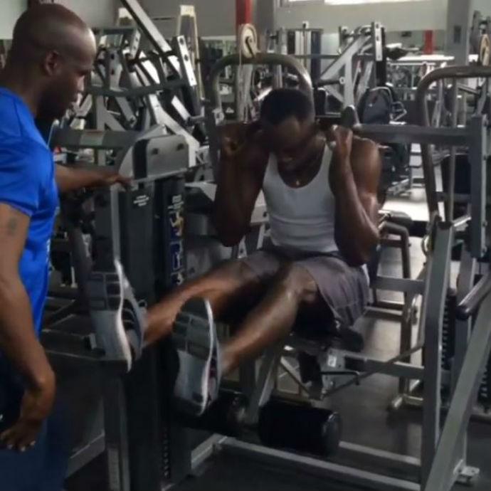 Usain Bolt mostra sua preparação para a próxima competição (Foto: Reprodução/Instagram)