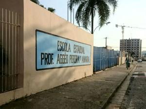 Escola Estadual Professor Aggêo Pereira do Amaral, em Sorocaba (Foto: Jomar Bellini / G1)