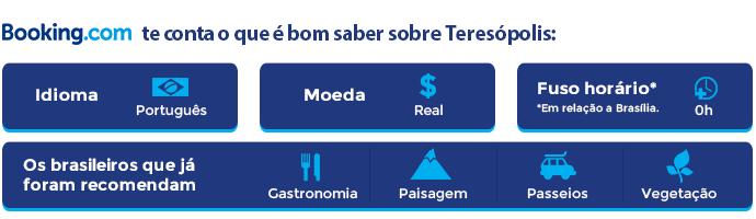 Booking.com - Quadro de informações sobre Teresópolis (Foto: Divulgação)